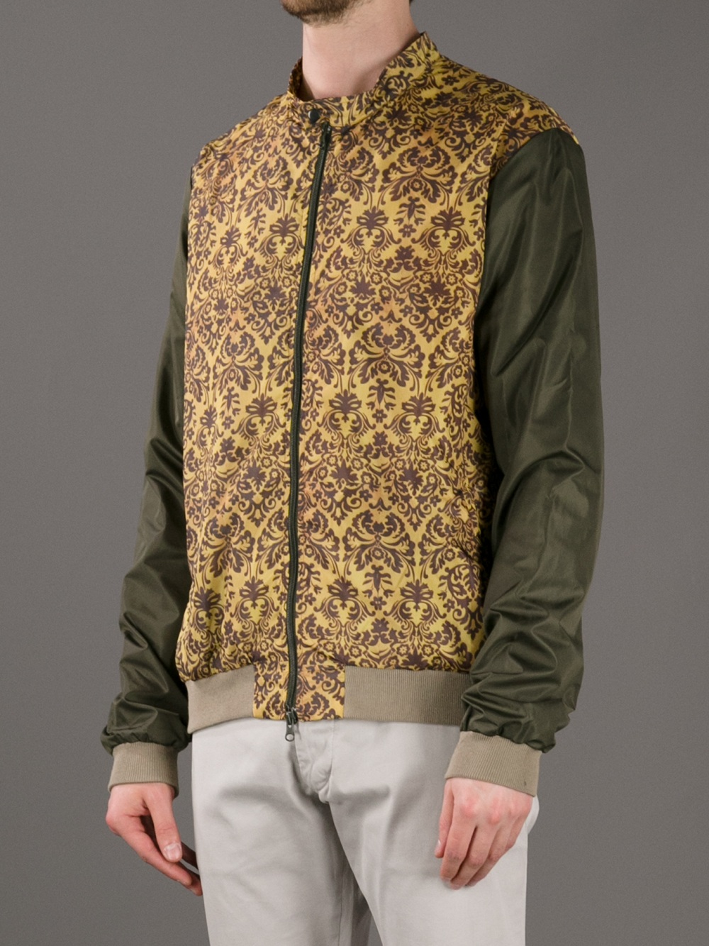 Fifteen & Half Paisley-Print Bomber Jacket in Green for Men