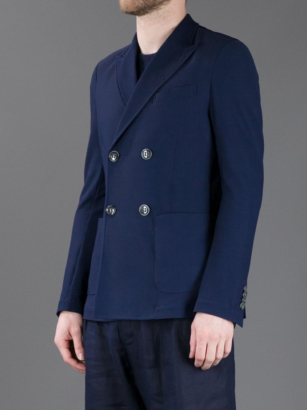 8265d3e969 Giorgio Armani Blue Double Breasted Blazer for men