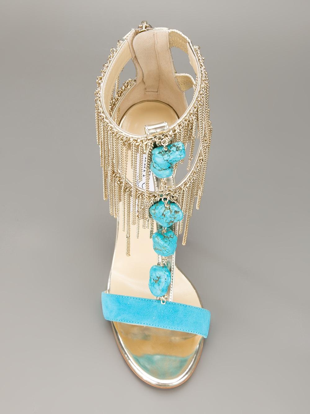 04b875c2da9 Lyst - Jimmy Choo Belle Sandal in Blue
