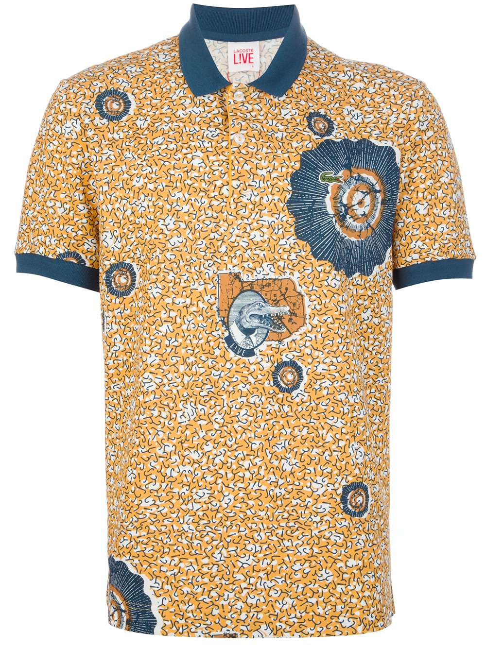 Polo Orange In For Men Fjt1lkc Printed Lacoste Lyst L Ive Shirt c5R4LS3qAj