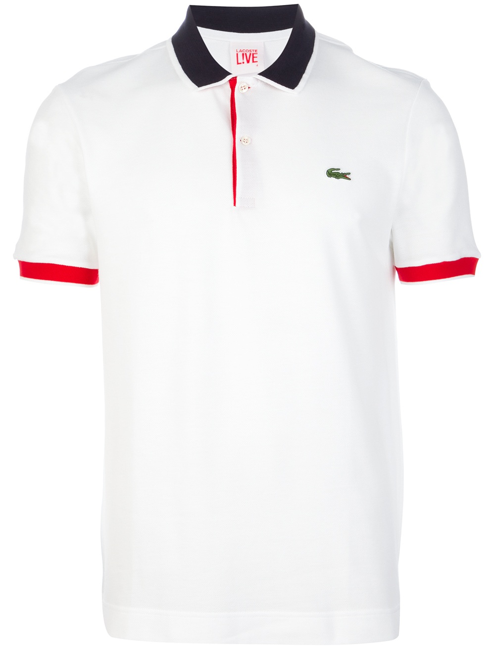 lacoste l ive classic polo shirt in white for men lyst. Black Bedroom Furniture Sets. Home Design Ideas