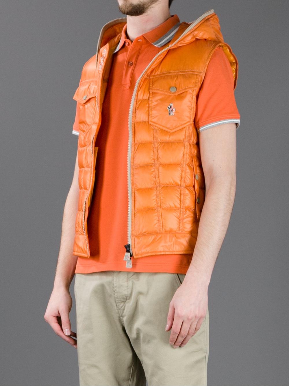 moncler orange gilet