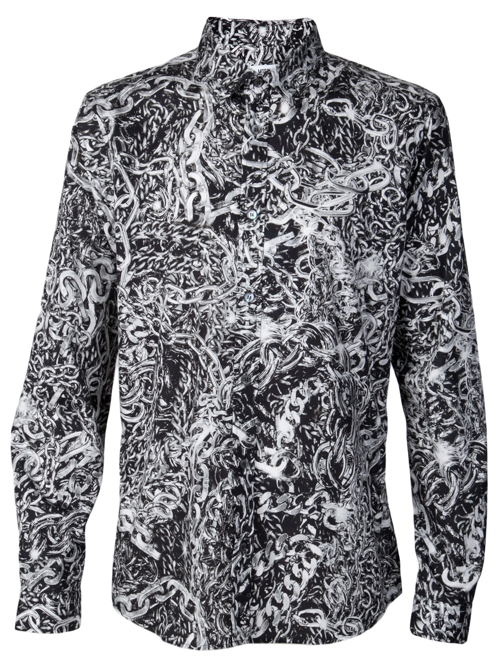 moschino chain shirt in black for men lyst
