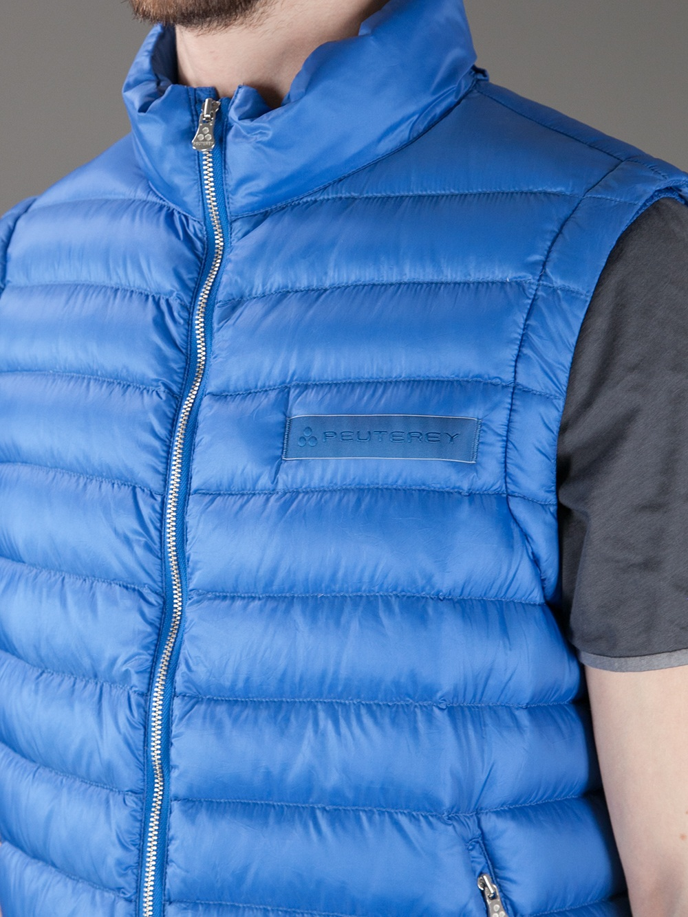 reputable site cf0bd 5a9e1 Peuterey Blue Barcelona Padded Gilet for men