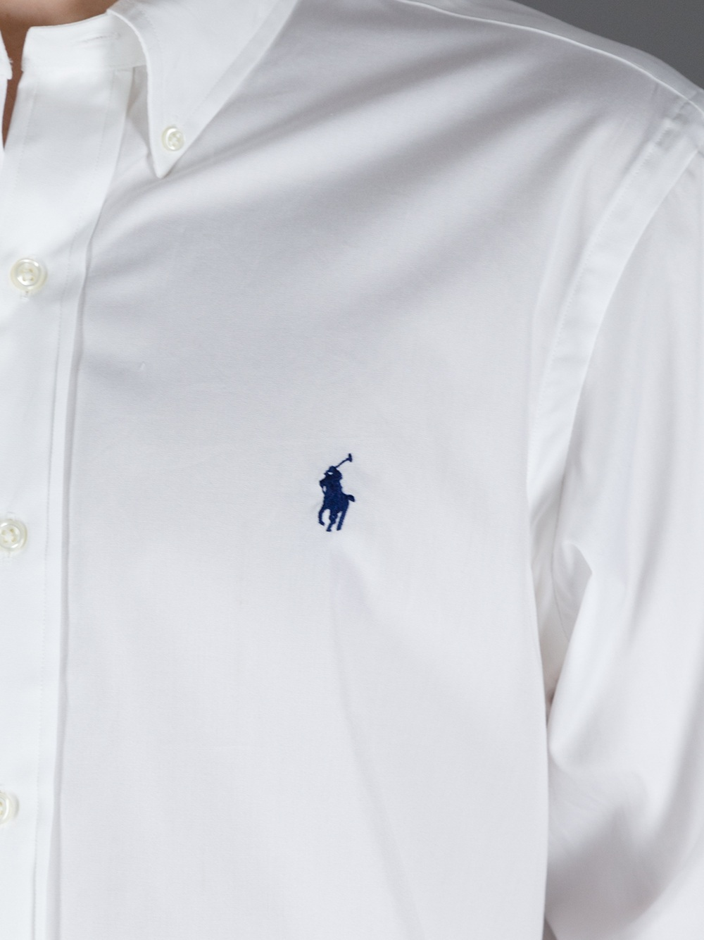 Polo ralph lauren Branded Button Down Shirt in White for Men | Lyst