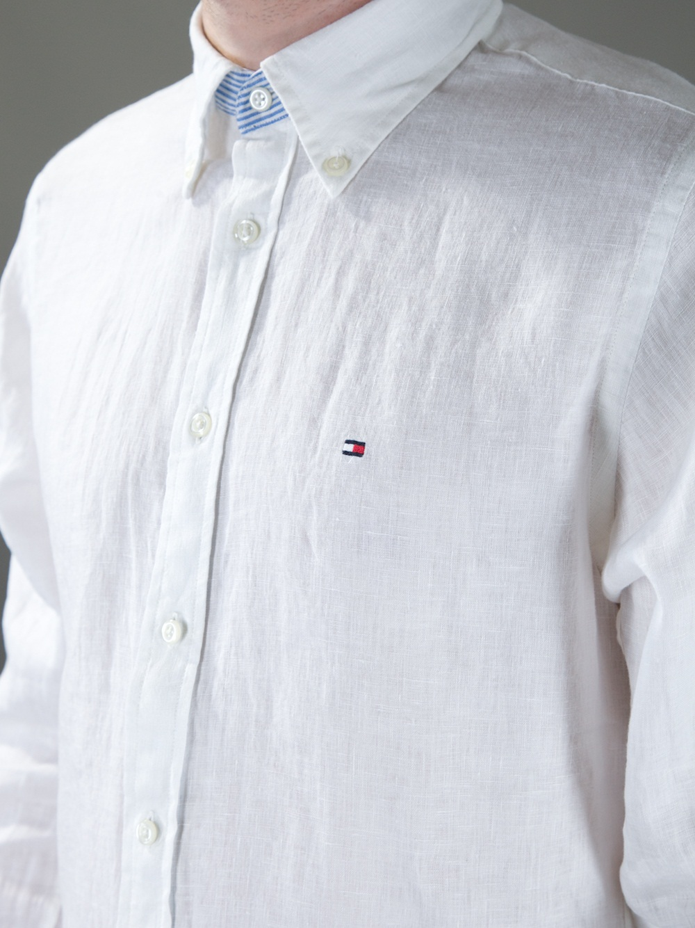 2db6e7f4b836 Lyst - Tommy Hilfiger Classic Linen Shirt in White for Men