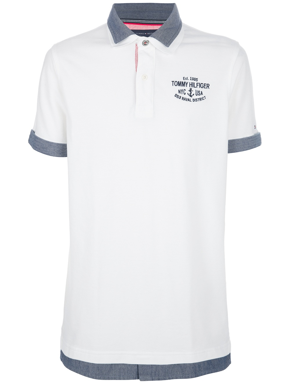 lyst tommy hilfiger polo shirt in white for men. Black Bedroom Furniture Sets. Home Design Ideas