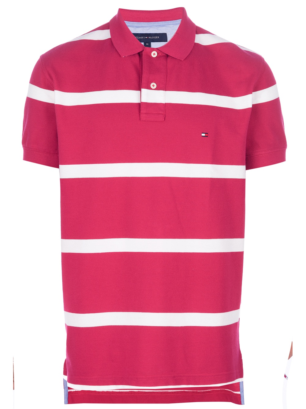5dba5767 Tommy Hilfiger Striped Polo Shirt in Pink for Men - Lyst