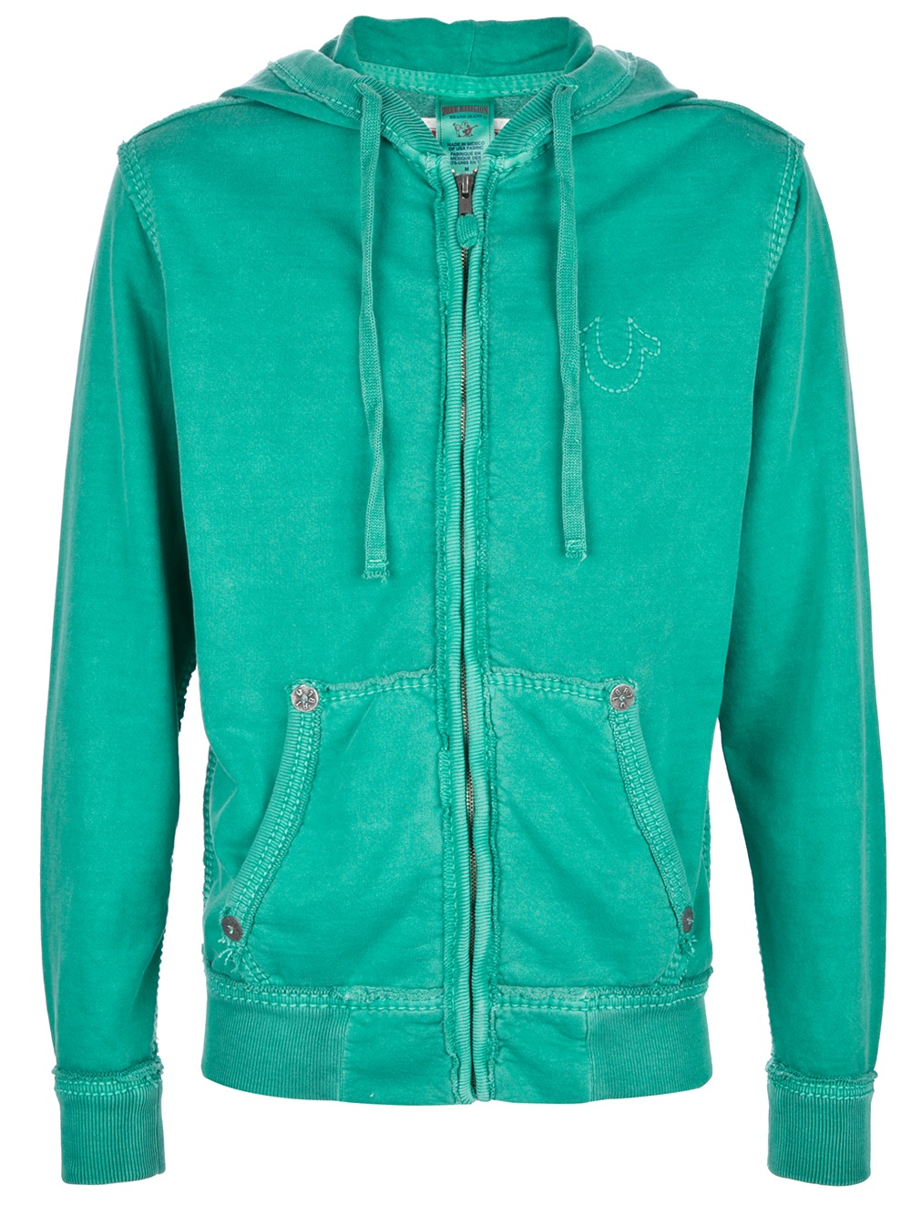 true religion hoodie in green for men lyst. Black Bedroom Furniture Sets. Home Design Ideas