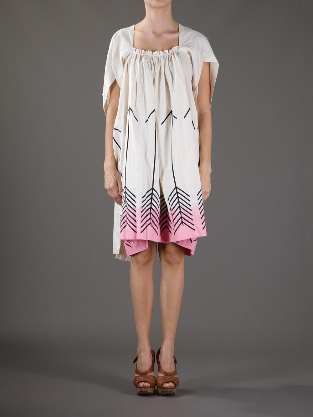 Lyst Bernhard Willhelm Arrow Print Dress In Natural