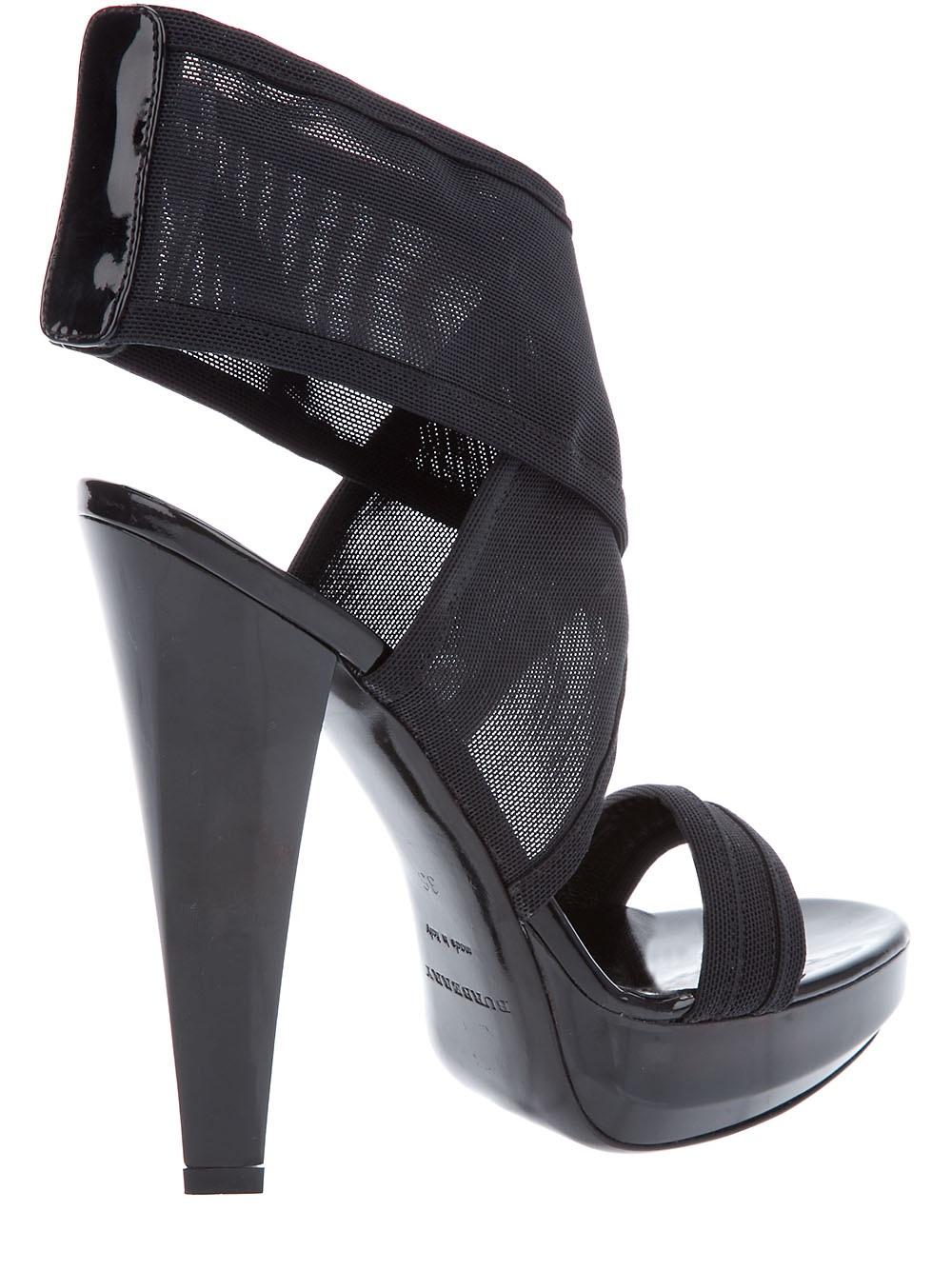 Lyst Burberry Platform Sandal In Black