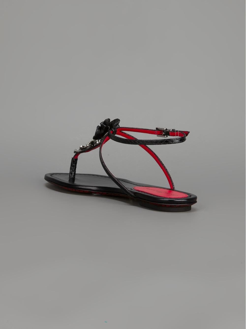 Black Cesare Basic Lyst Sandal In Paciotti Flat rdCWQoexB