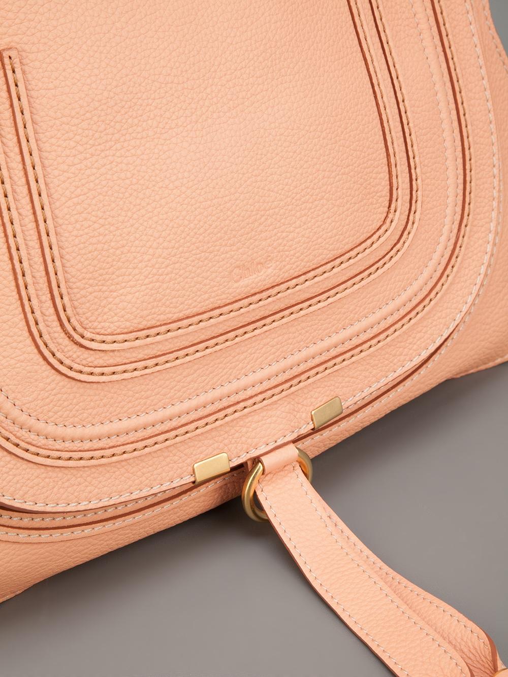 Lyst Chlo 233 Saddle Bag In Pink