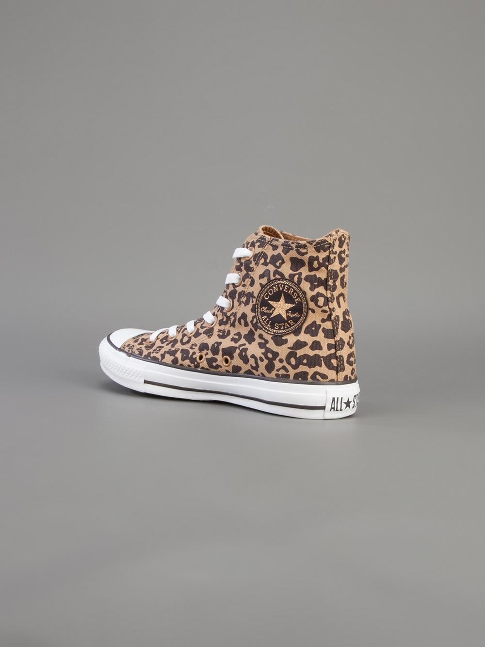 tunnetut tuotemerkit mistä voin ostaa ostaa halpaa Hi Top Leopard Print Trainer