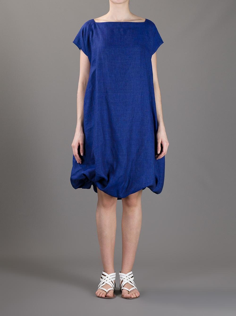 Lyst Daniela Gregis Belted Dress In Blue