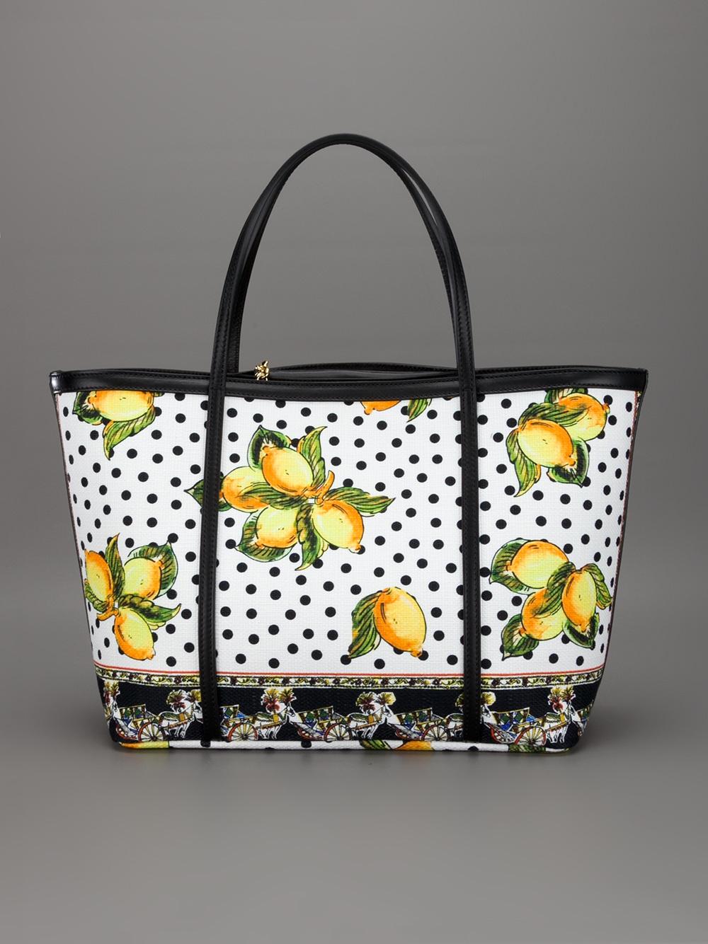 Lyst Dolce Amp Gabbana Lemon Print Shopper In Yellow