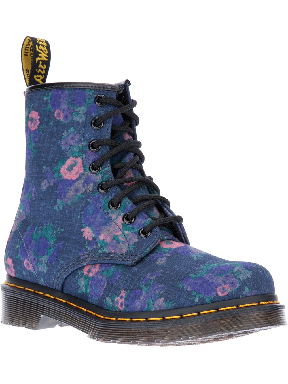 Lyst Dr Martens Floral Print Boot