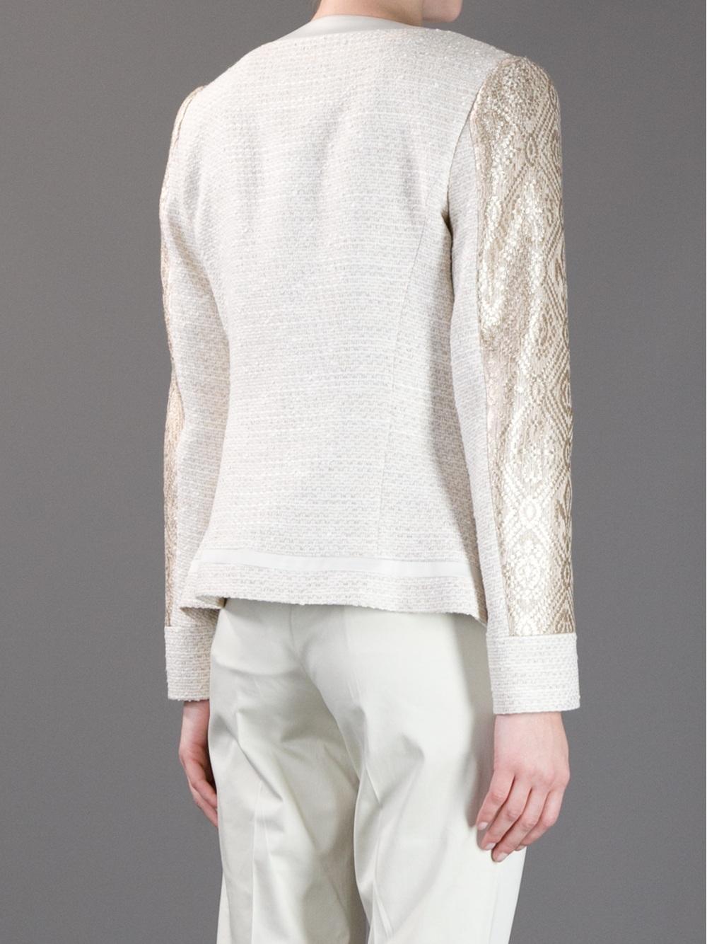 Lyst Etro Jacquard Jacket In Metallic