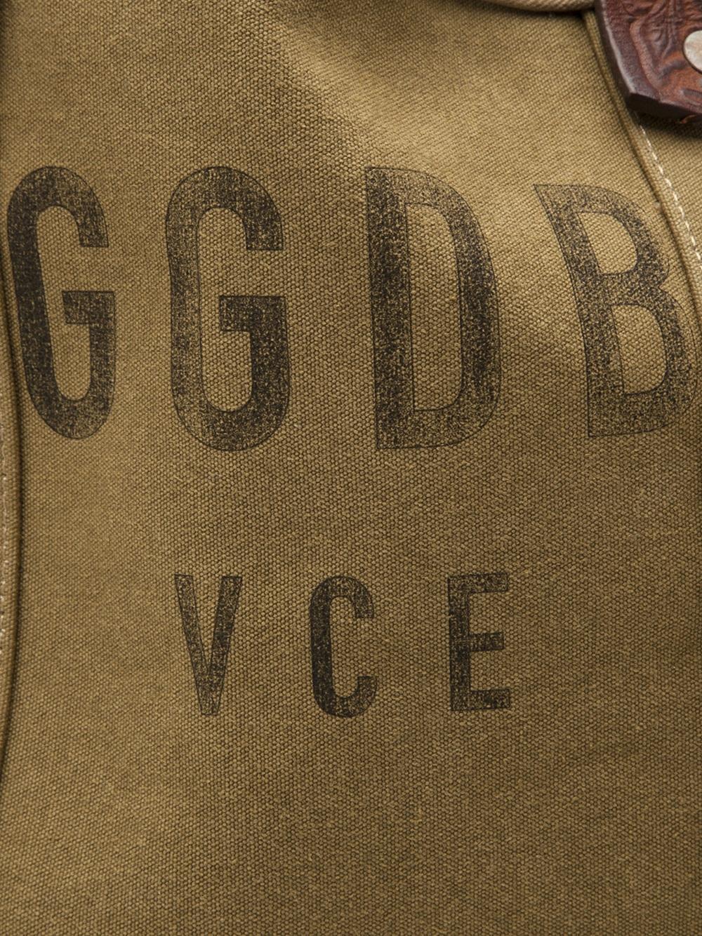 Golden Goose Deluxe Brand Canvas Tote in Green (Brown)