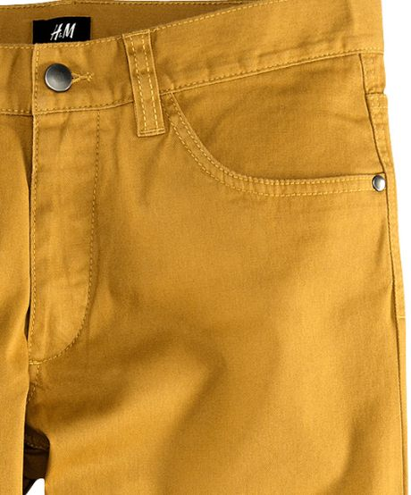 H Amp M Trousers In Yellow For Men Mustard Lyst