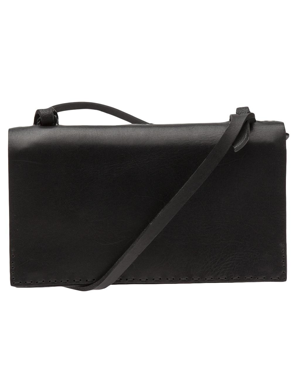Lyst Johnny Farah Wallet Leather Cross Body Bag In Black