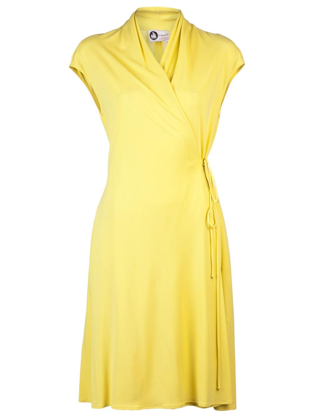 Lyst - Lanvin Jersey Dress in Yellow
