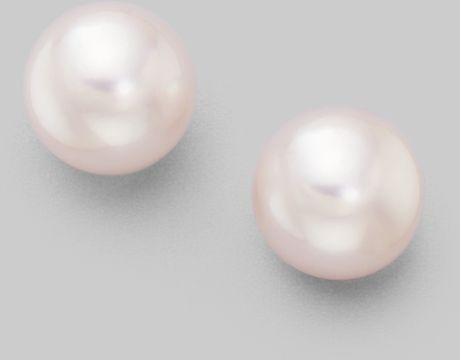 Mikimoto Pearl Earrings White Gold 18k White Gold Earrings in