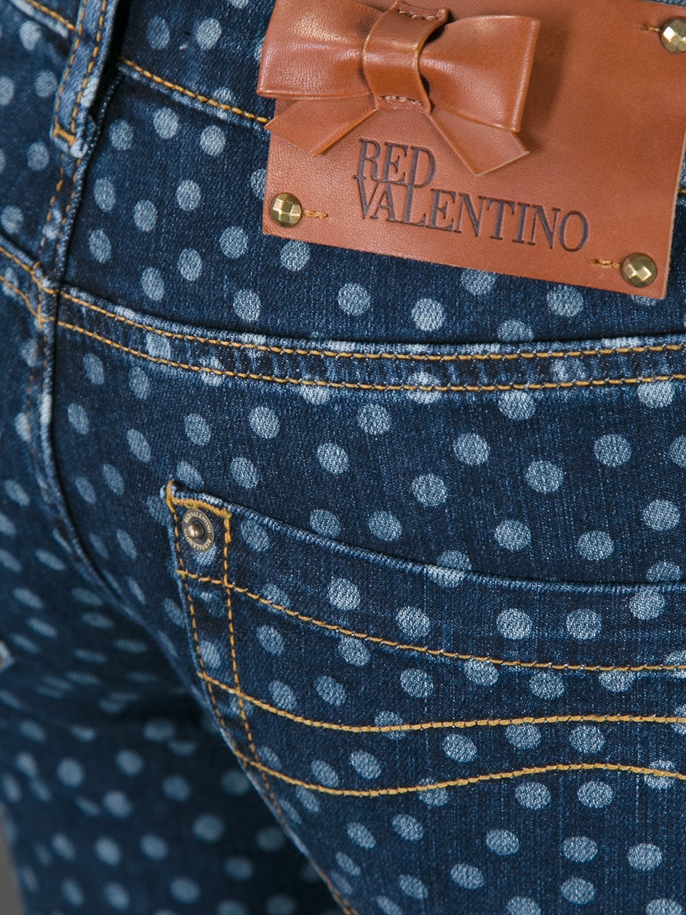 Lyst red valentino polka dot jeans in blue gallery sisterspd