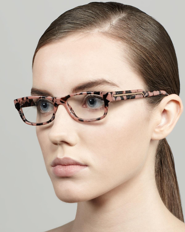 f10398c2d501 Lyst - Stella McCartney Rectangular Fashion Glasses in Pink