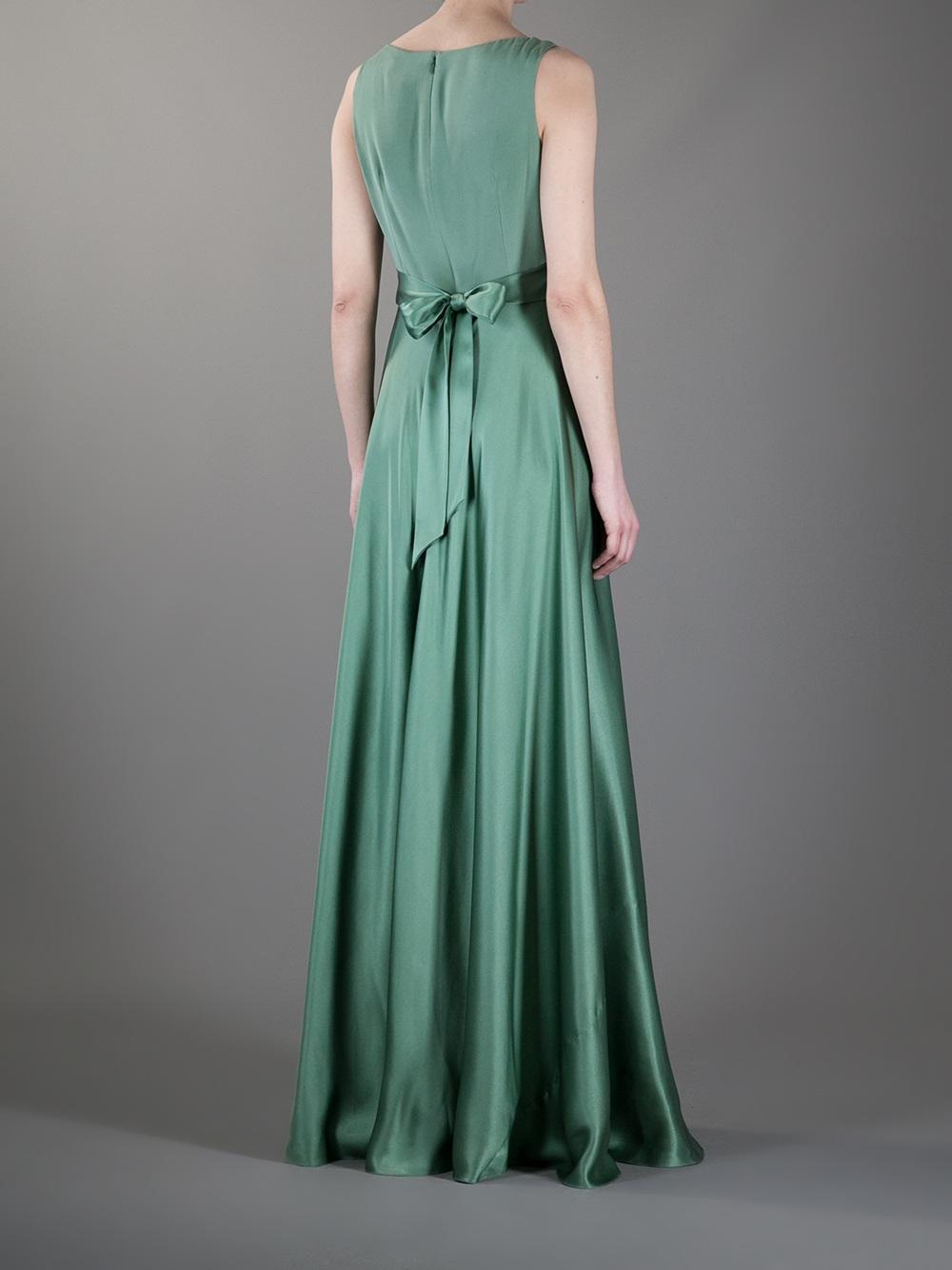 Lyst Temperley London Stella Evening Dress In Green