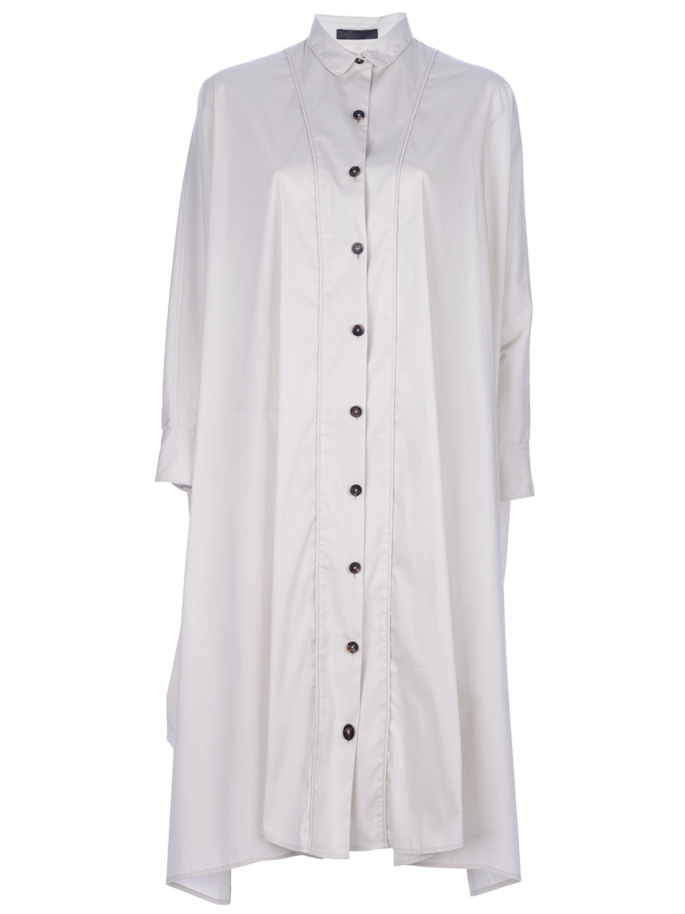 The row Oversized Shirt Dress in White | Lyst
