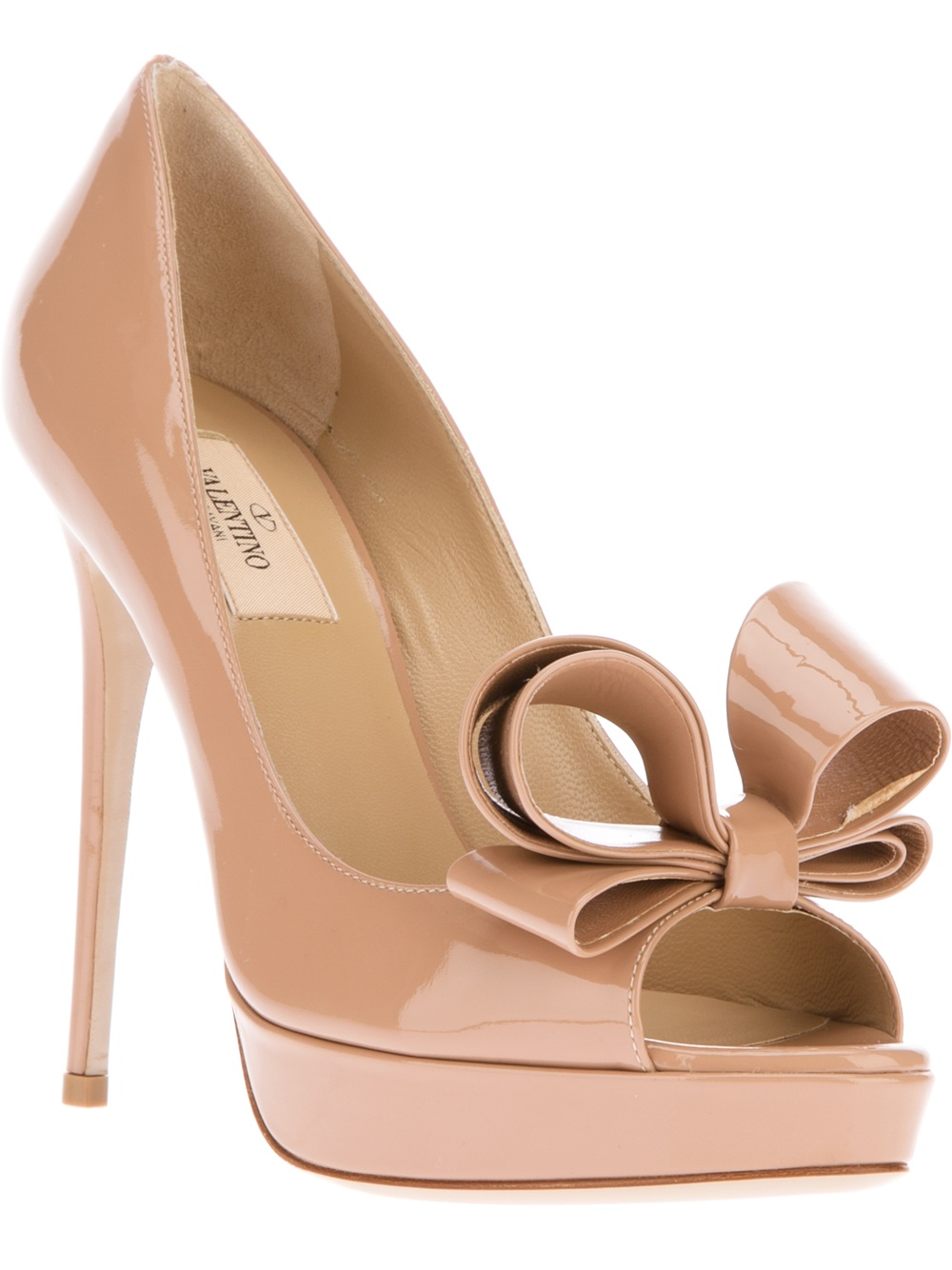 Valentino Peep Toe Pump in Rose