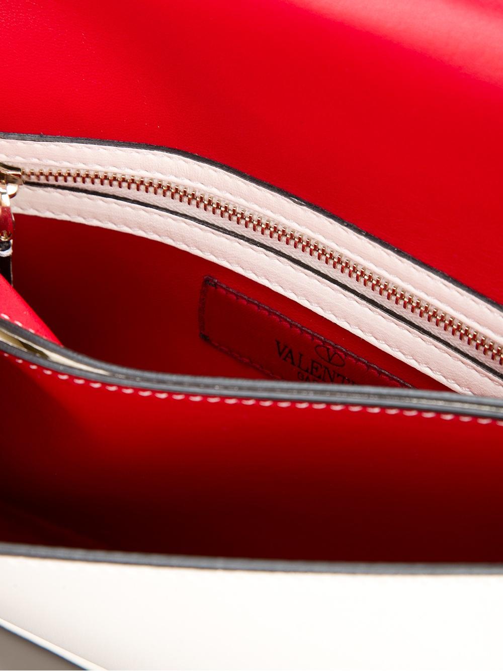 Valentino Rockstud Clutch Bag In White Lyst