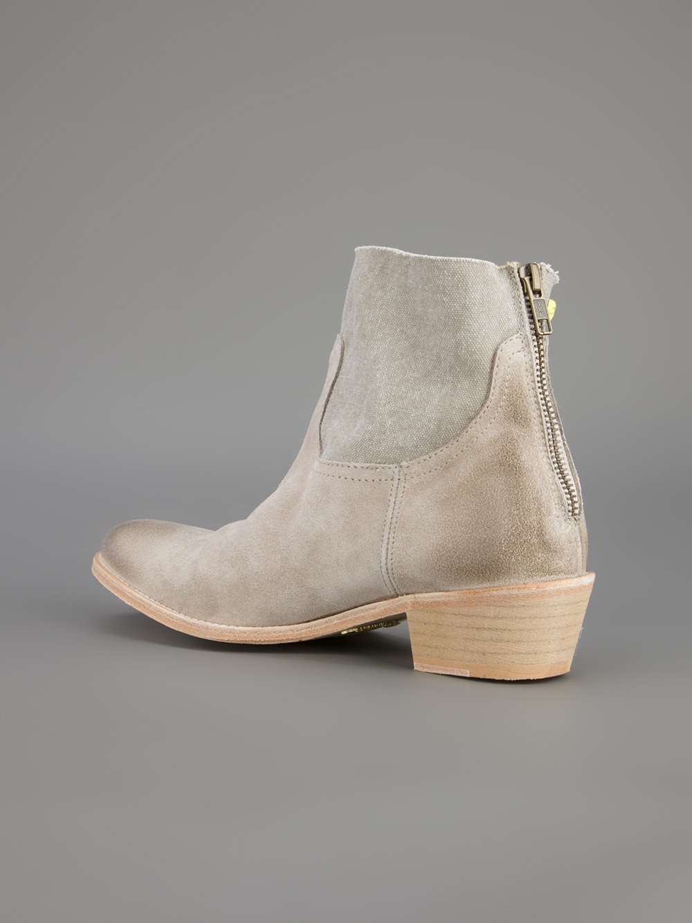 Zadig & Voltaire Beige Leather Boots MbbFyzYQ