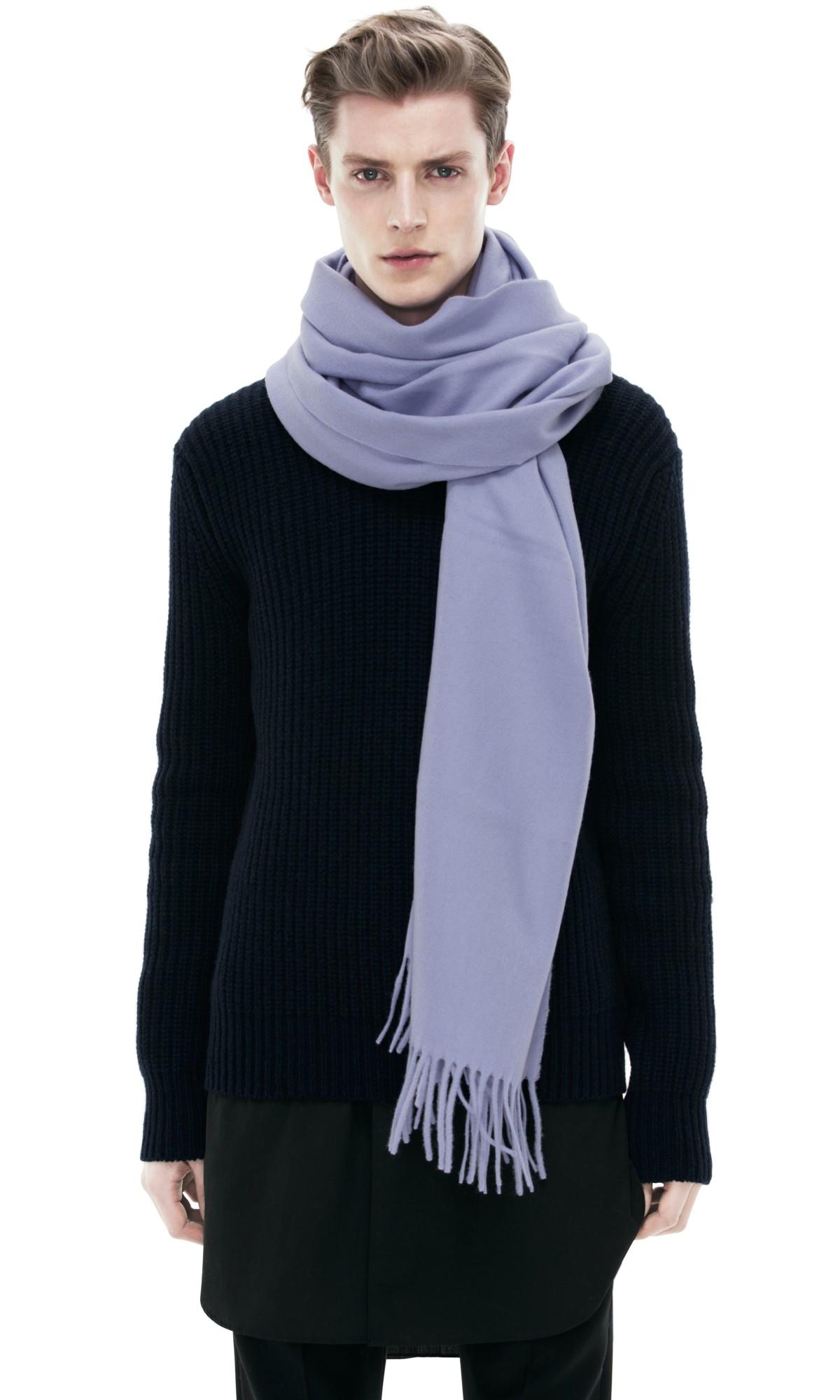 acne canada scarf light purple in purple lyst