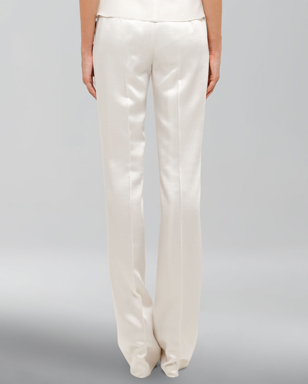 Akris Satin Pants In White Lyst