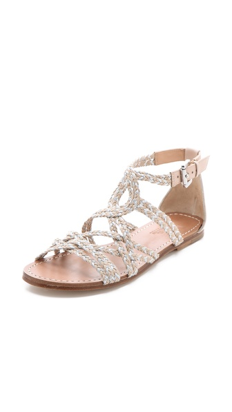 Belle By Sigerson Morrison Bobo Braided Flat Sandals In