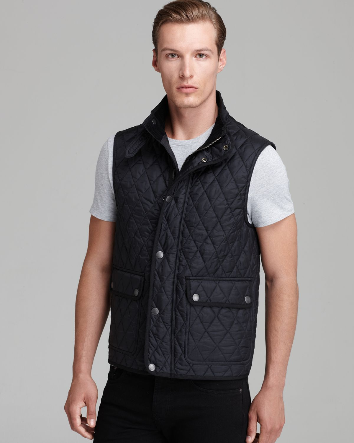 men jacket padded mens lightly quilted quilt rushton of diamond black burberry picture in p s