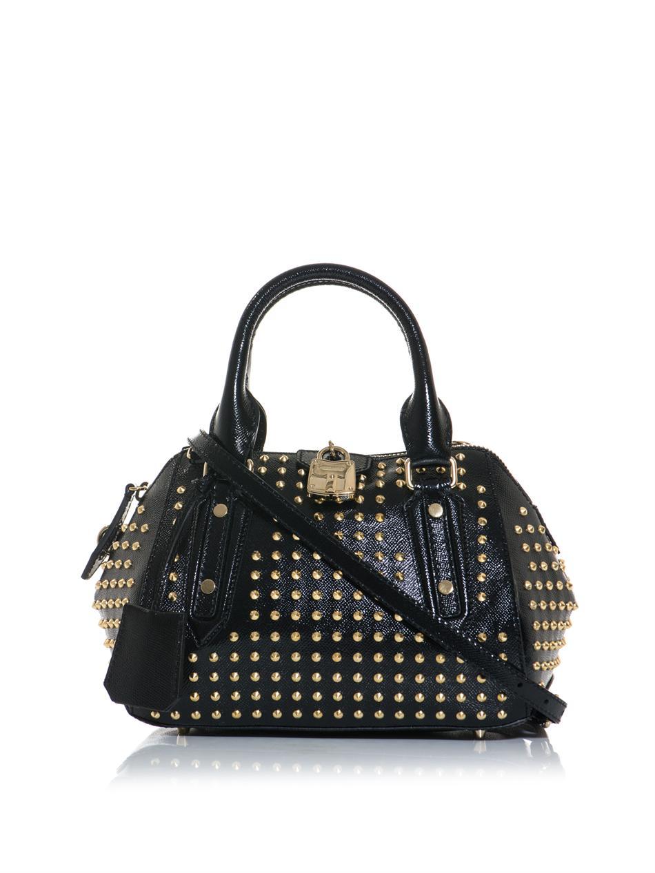 Lyst Burberry Prorsum Blaze Studded Patent Leather Bag