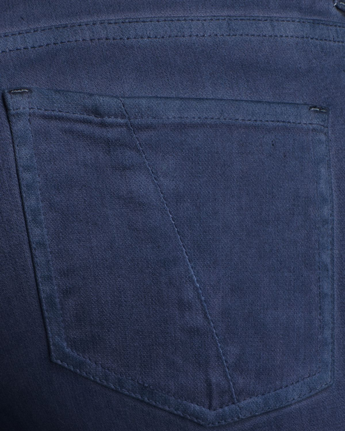 Cut25 by Yigal Azrouël Skinny Jeans Side Leather Panel in Blue