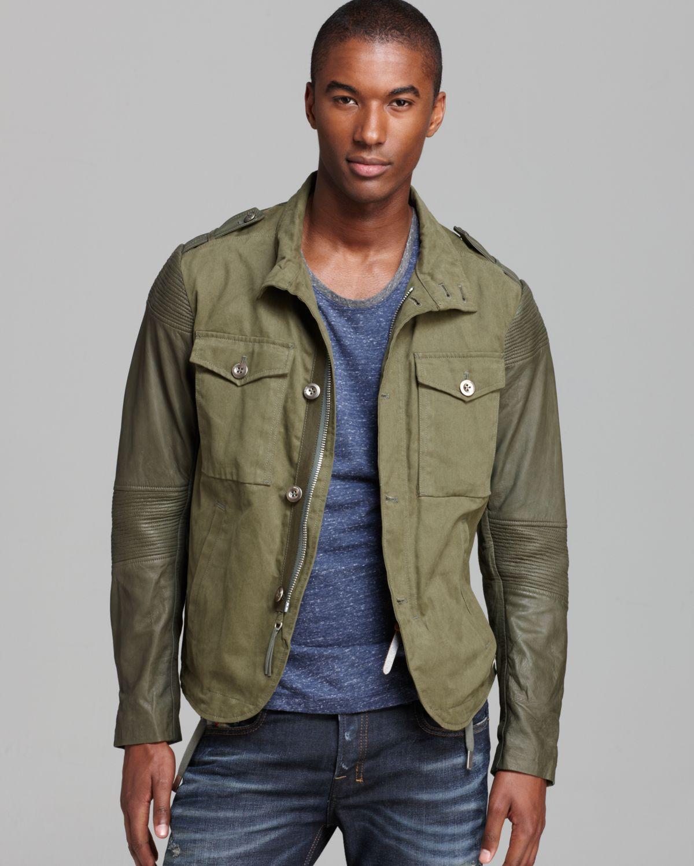 Utility Jacket Jackets And Nike: DIESEL Landing Utility Jacket In Green For Men