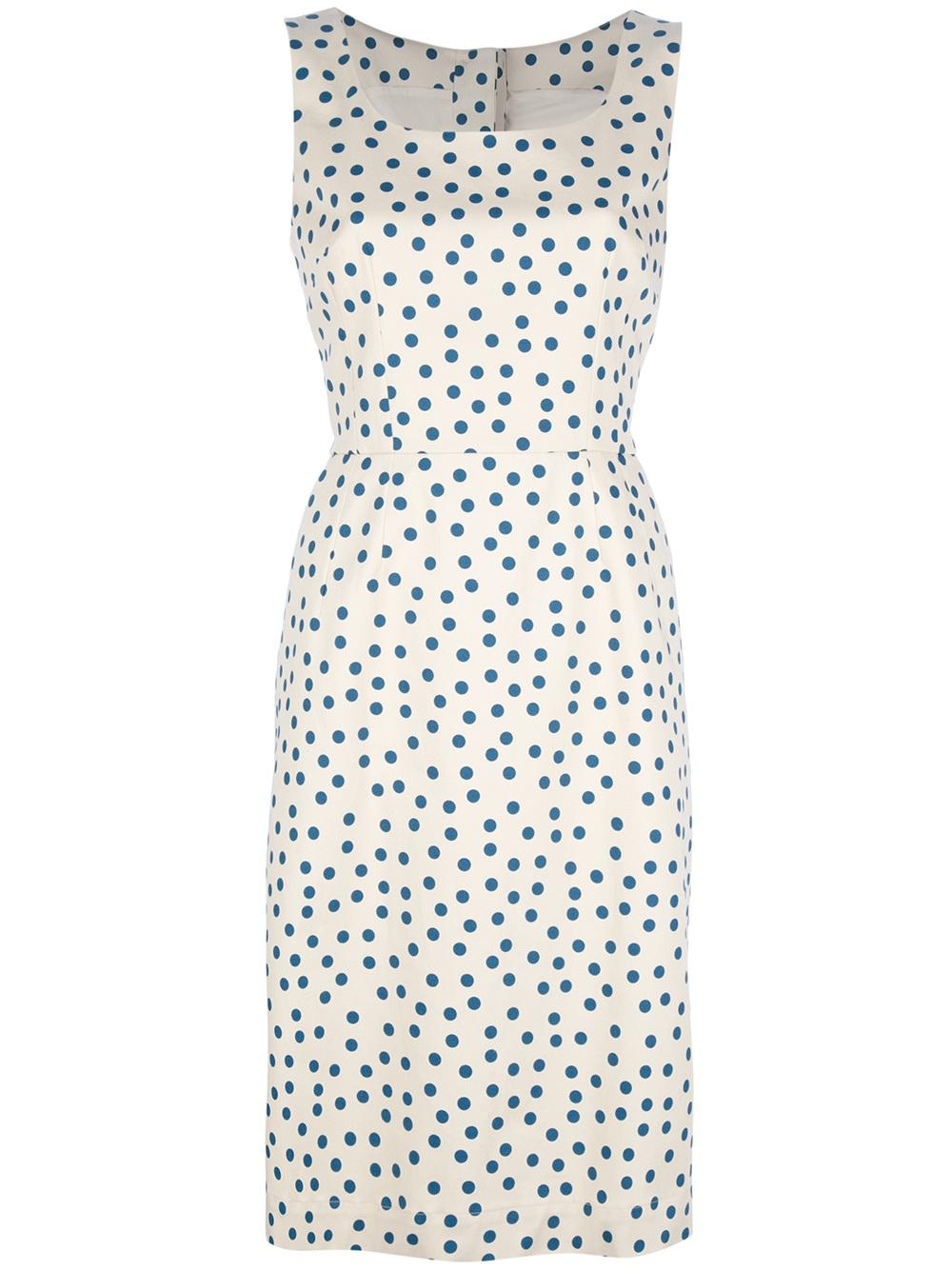 Dolce & gabbana Polka Dot Dress in White | Lyst
