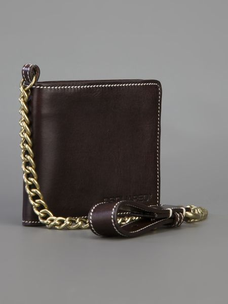 Dsquared² chain wallet in brown for men lyst