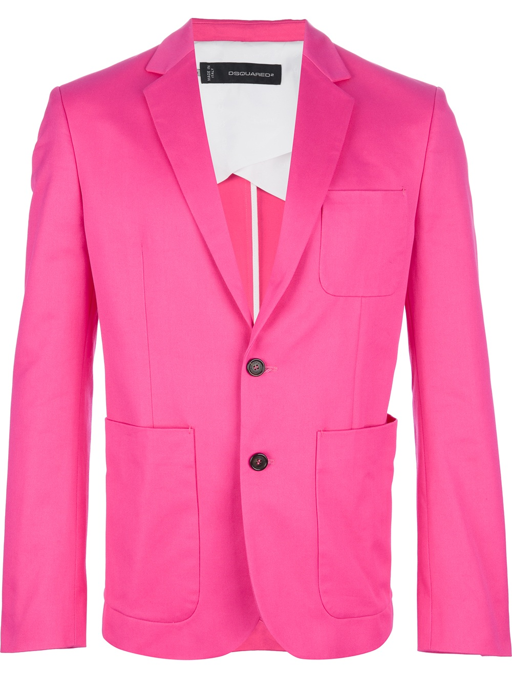 Dsquared² Classic Blazer in Pink for Men