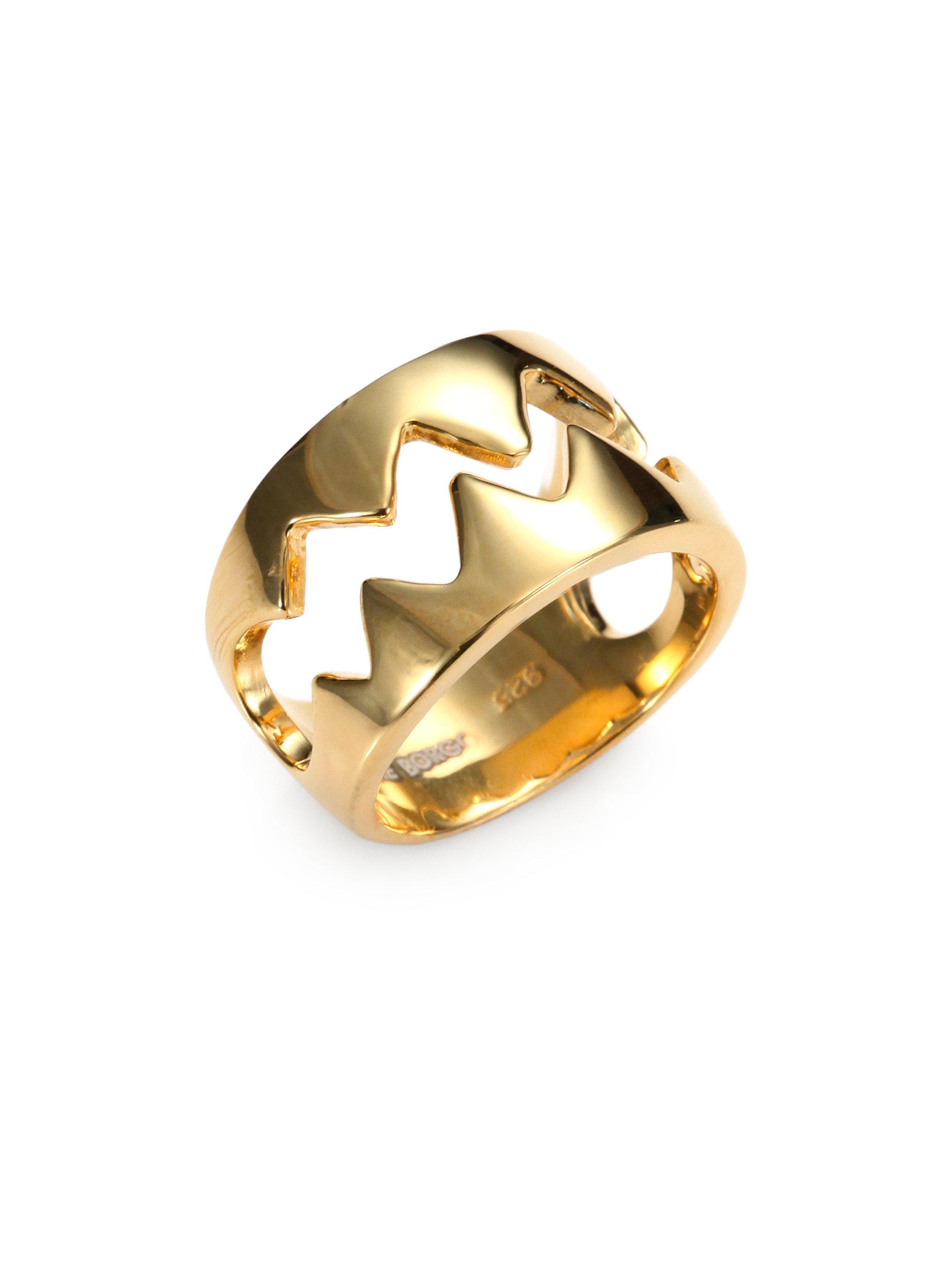 7b47277c4d57 Lyst - Eddie Borgo Bear Trap Ring in Metallic