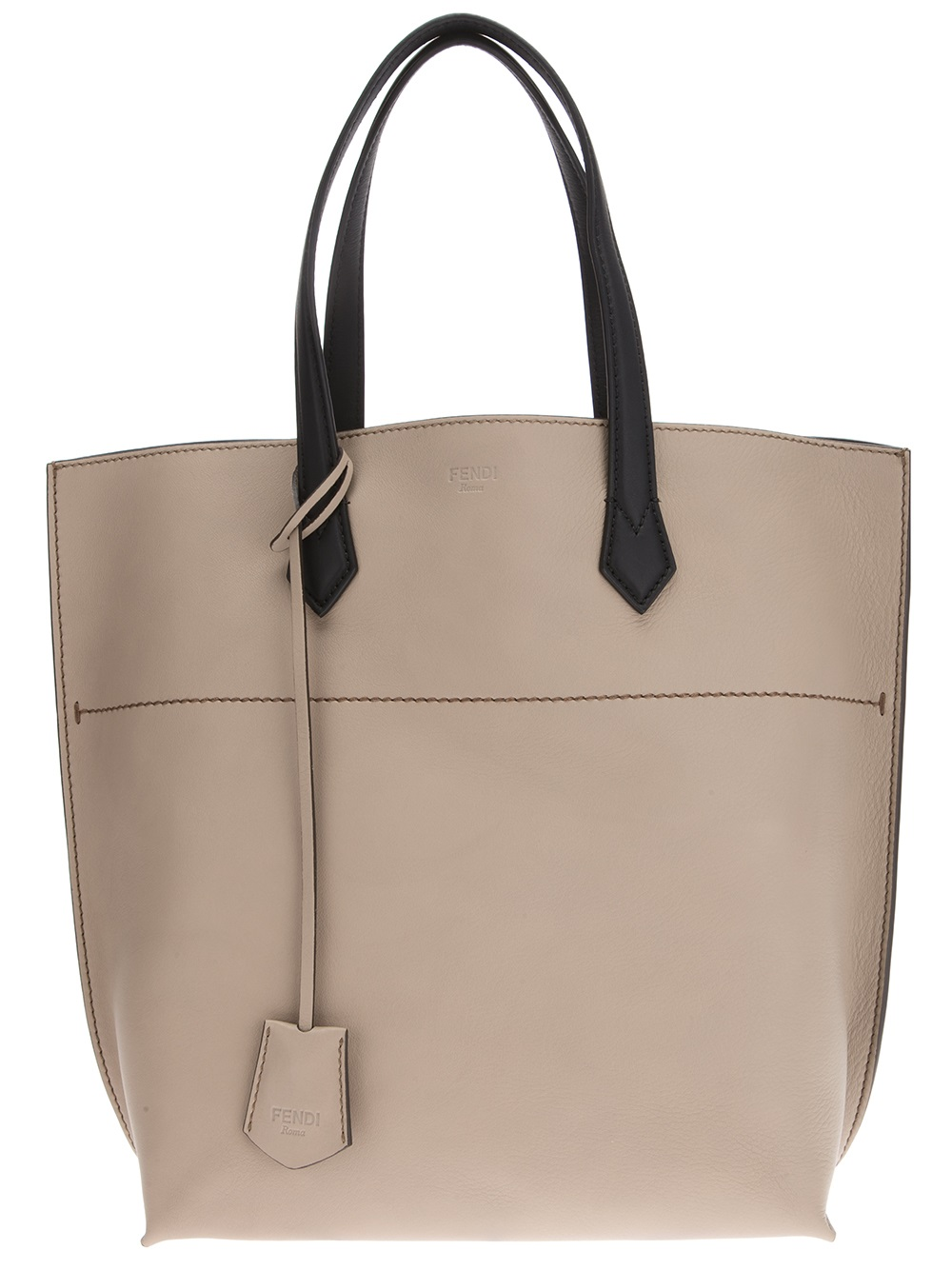Fendi Shopper Bag in Gray (grey) | Lyst