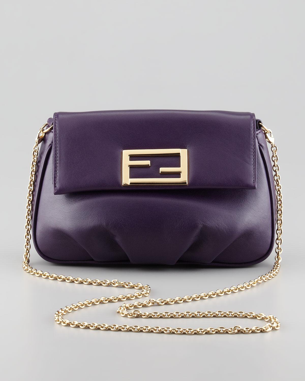 Lyst - Fendi Sta Pochette Crossbody Bag in Purple