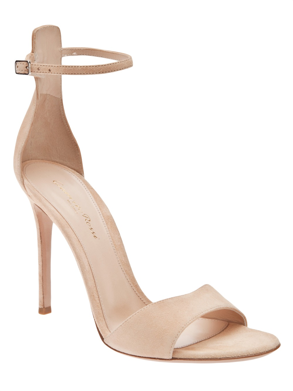 ea2ffc8589 Gianvito Rossi Ankle Strap Sandal in Natural - Lyst