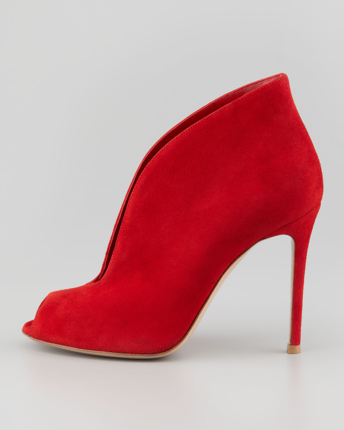 61d182923d7 Gianvito Rossi Womens Suede Ankleflare Bootie Red