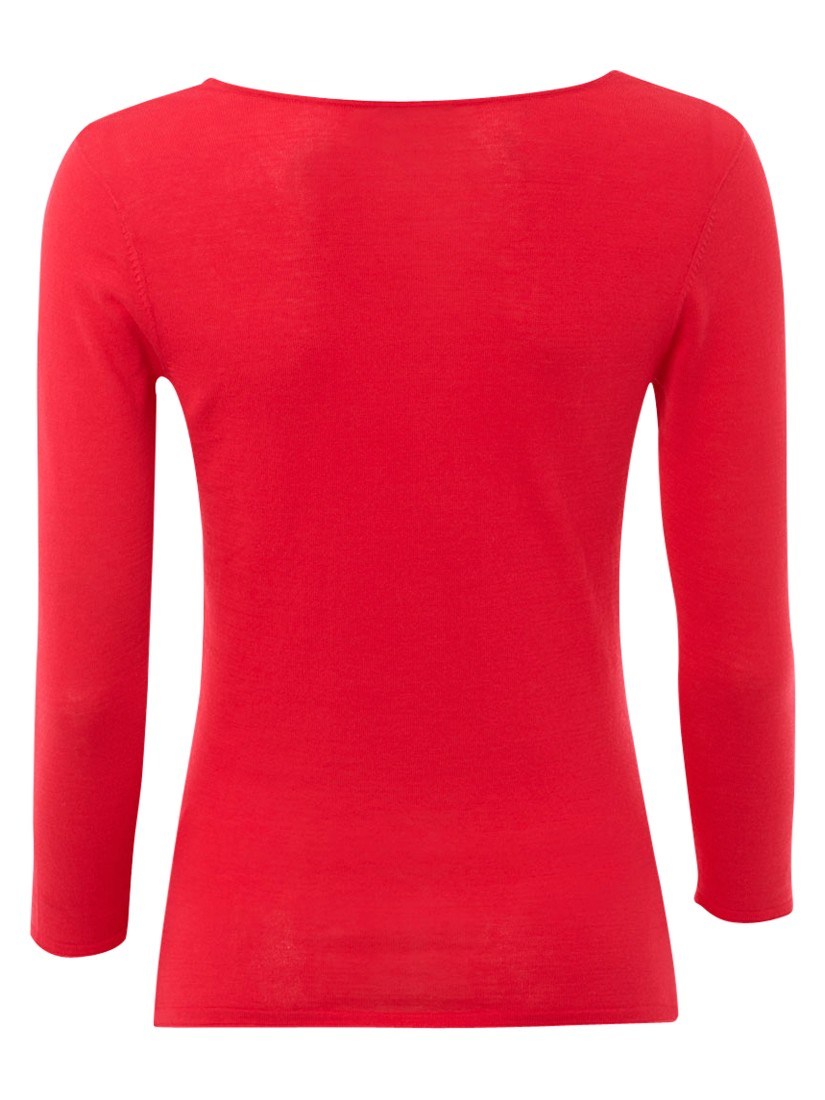 Hobbs Whitstable Cowl Neck Top in Sorbet (Red)
